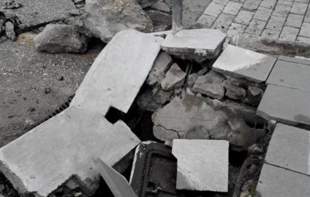 Συγκλονιστικές εικόνες: Άνοιξε η γη στο Ληξούρι!