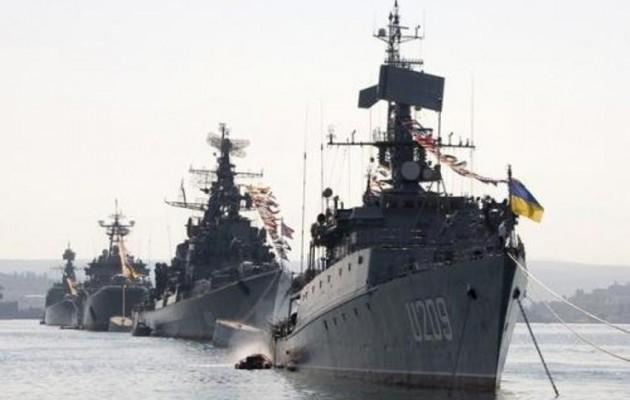 Ολόκληρος ο ουκρανικός πολεμικός στόλος ύψωσε ρωσική σημαία