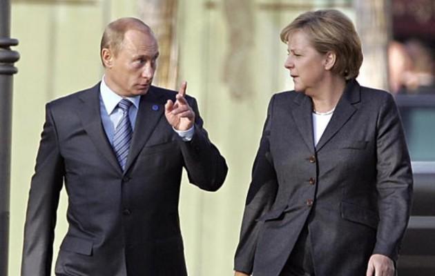 Τηλεφωνική επικοινωνία Πούτιν – Μέρκελ για την Ουκρανία