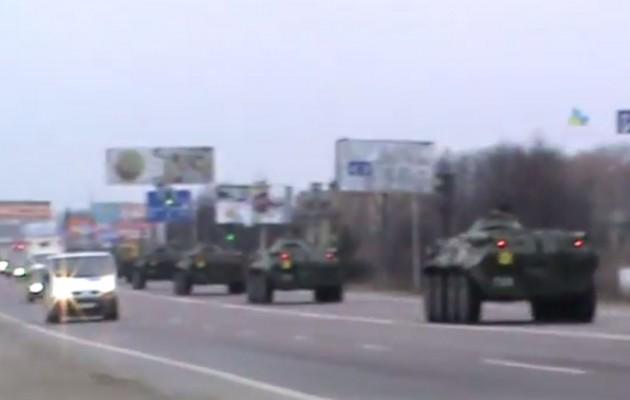 ΕΚΤΑΚΤΗ ΕΙΔΗΣΗ: Κομβόι Ουκρανικών τανκς καθ΄ οδόν προς την Κριμαία