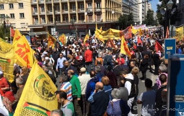 Χιλιάδες εργαζόμενοι στους δρόμους για τον εορτασμό της εργατικής Πρωτομαγιάς