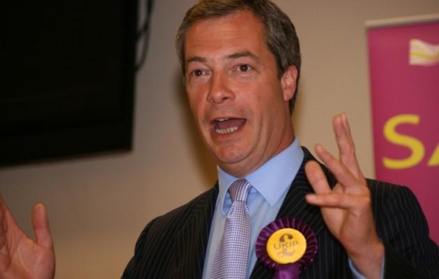 Ο Φάρατζ υποσχέθηκε να βγάλει τη Βρετανία από την Ευρωπαϊκή Ένωση!