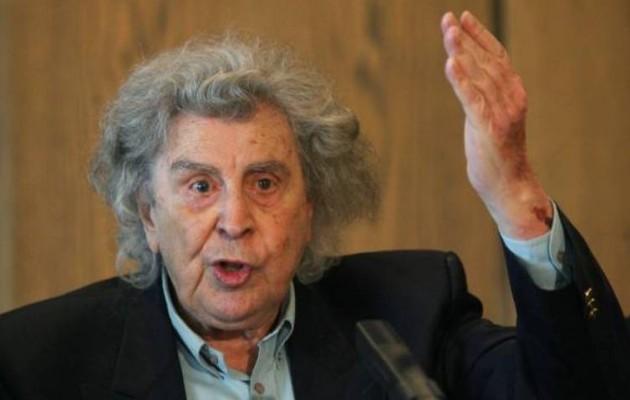 """Μίκης Θεοδωράκης: """"Υποστηρίζω με όλες μου τις δυνάμεις τον Αλ. Τσίπρα"""""""