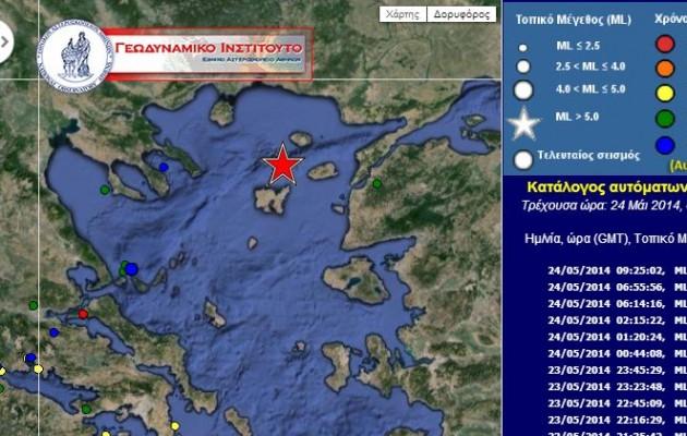 Σφοδρή σεισμική δόνηση 6.5 Ρίχτερ στην Λήμνο