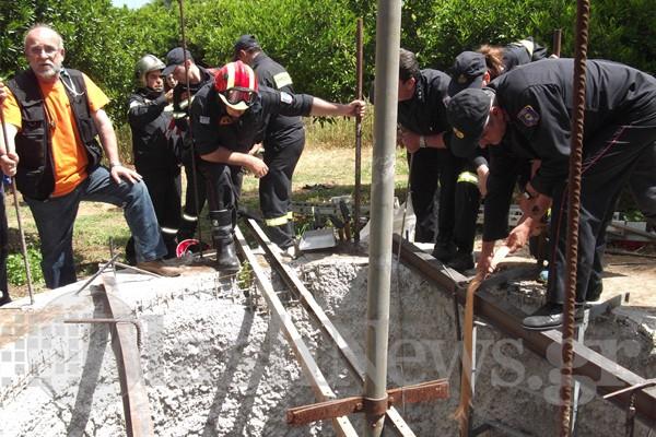 """Χανιά: Επιχείρηση διάσωσης εργάτη που """"θάφτηκε"""" από χώμα (φωτογραφίες)"""