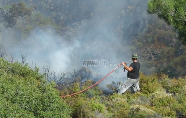 Ανεξέλεγκτη μαίνεται η πυρκαγιά στην Μυτιλήνη – Κινδυνεύει η Αγία Μαρίνα