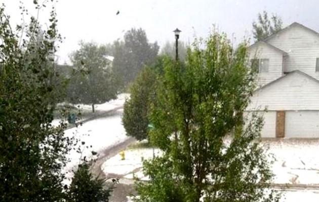 Κολοράντο: «Χιόνισε» 10 πόντους… χαλάζι (βίντεο)