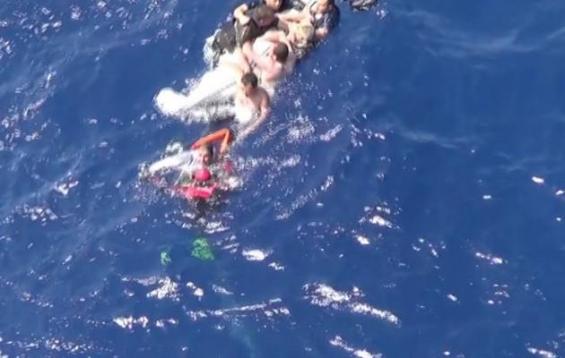 Η δραματική επιχείρηση διάσωσης λαθρομεταναστών στην Σάμο (βίντεο)