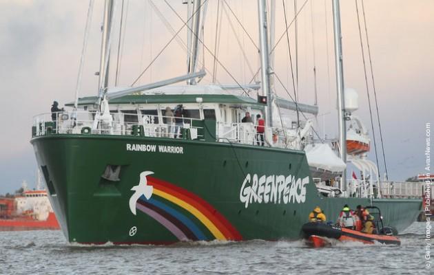 Το Rainbow Warrior ΙΙΙ της Greenpeace στη Ρόδο