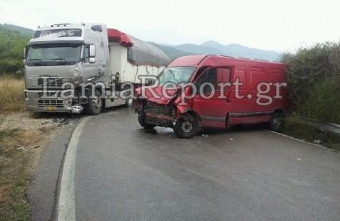 Νέο τροχαίο με νταλίκα στη Λαμία – Σε κρίσιμη κατάσταση ο ένας οδηγός