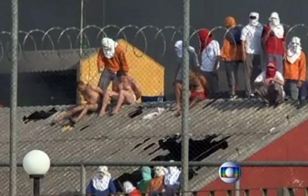 Εξέγερση σε φυλακές στη Βραζιλία – Πετάνε κρατούμενους από την ταράτσα (βίντεο)