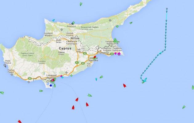 Τουρκική φρεγάτα μέσα στο οικόπεδο 3 της Κύπρου