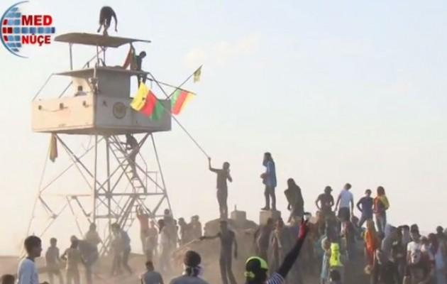 Έδιωξαν τους Τούρκους και άνοιξαν τα σύνορα του Κουρδιστάν (βίντεο)
