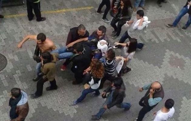 ΕΚΤΑΚΤΟ: Χαροπαλεύει Κούρδος διαδηλωτής στην Κωνσταντινούπολη (φωτογραφίες)