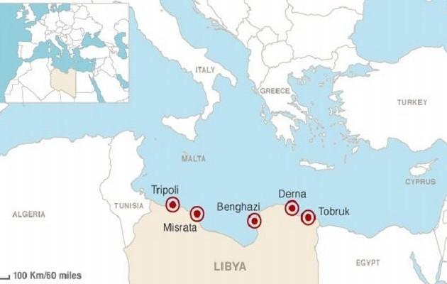 Τζιχαντιστές εκπαιδεύονται σε απόσταση αναπνοής από την Κρήτη (χάρτης)