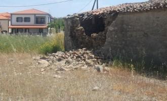 Αποτέλεσμα εικόνας για πλωμάρι σεισμός