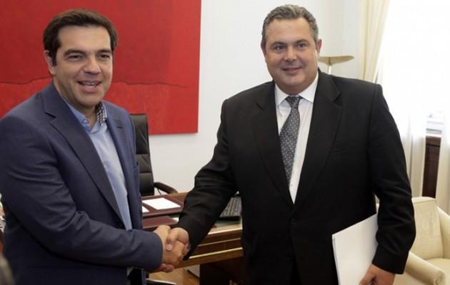 Τσίπρας και Καμμένος γράφουν τα ονόματα των νέων υπουργών