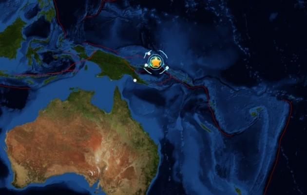 Ισχυρότατος σεισμός 7,7 Ρίχτερ στην Παπούα Νέα Γουινέα