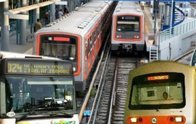 Ακινητοποιημένα ηλεκτρικός, λεωφορεία, τρόλεϊ και τρένα την Πρωτομαγιά