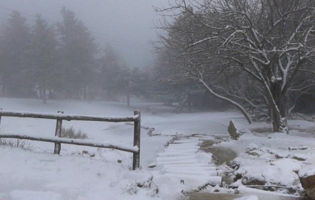 """Το """"έστρωσε"""" στην Πάρνηθα – Χιονισμένη Μεγάλη Εβδομάδα"""