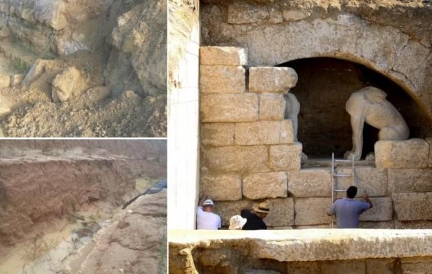 Η Αμφίπολη εγκαταλείφθηκε και τώρα καταρρέει! – Θάβεται κάτω από την άμμο