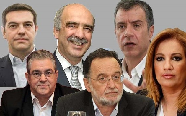 Τα πορτρέτα των πολιτικών αρχηγών των κομμάτων της Ελλάδας
