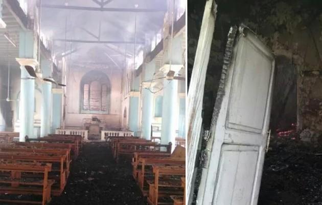 Η Αλ Κάιντα έκαψε εκκλησία 150 ετών στην Υεμένη (φωτο)