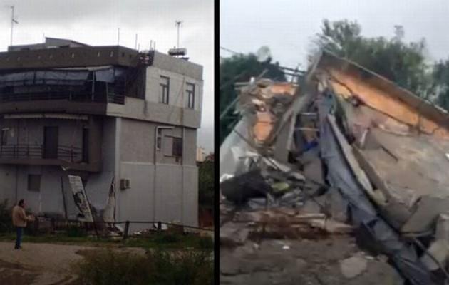 Κακοκαιρία: Τριώροφη κατοικία κατέρρευσε στο Καματερό
