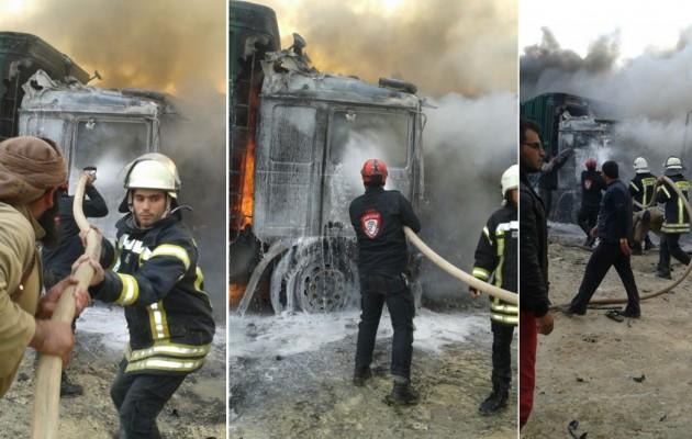 Αντίποινα Πούτιν: Η Ρωσία βομβάρδισε κονβόι με τούρκικα φορτηγά (φωτο)