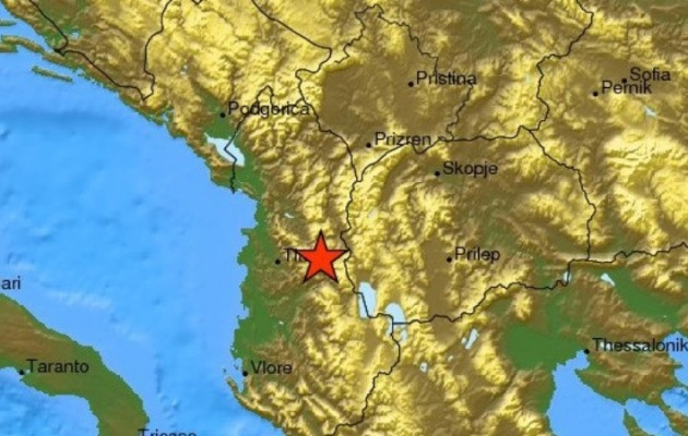 Τρεις σεισμοί ταρακούνησαν τα Τίρανα της Αλβανίας