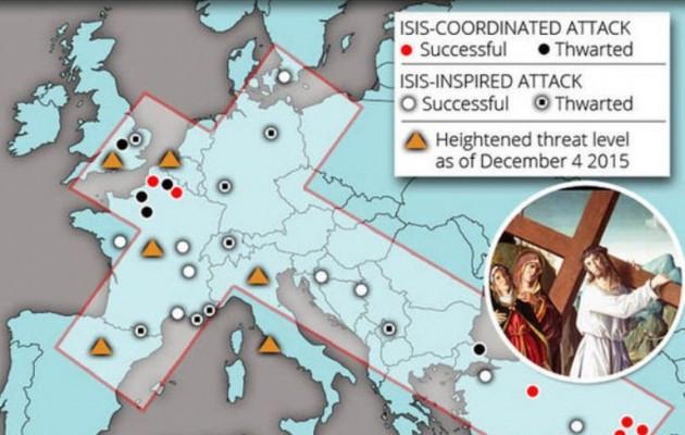 Το Ισλαμικό Κράτος «σταυρώνει» την Ευρώπη – Θεωρία συνωμοσίας ή πραγματικότητα;