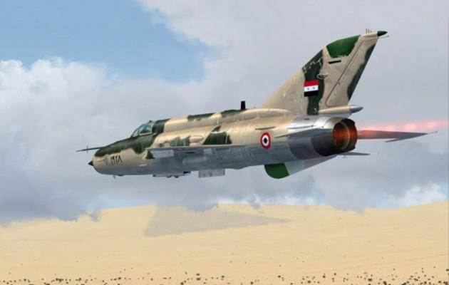 Συριακά αεροπλάνα σφυροκοπούν το Ισλαμικό Κράτος στο όρος Αλ Σάφα της Σουγουαΐντα