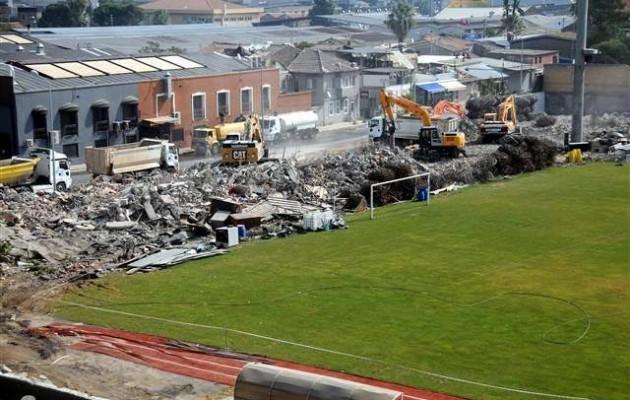 Γκρεμίστηκε μετά από 104 χρόνια το ιστορικό γήπεδο του Πανιωνίου στη Σμύρνη