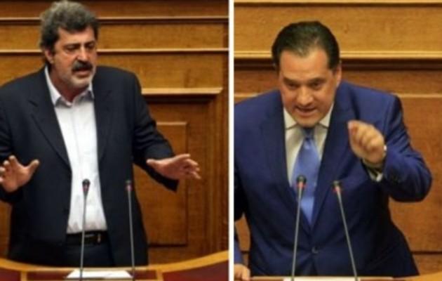"""""""Αρπάχτηκαν"""" Πολάκης και Άδωνις στη Βουλή! – Κόντρα για τη μικρή Μελίνα"""