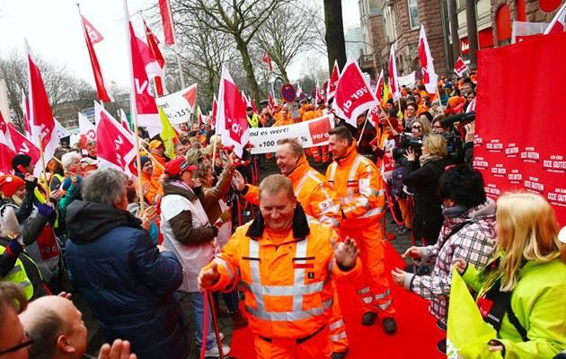 Γερμανοί συνδικαλιστές ζητούν αυξήσεις 5% για 550.000 εργαζόμενους