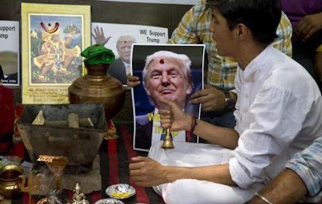Ινδουιστές προσευχήθηκαν στους θεούς να βοηθήσουν τον Ντόναλντ Τραμπ