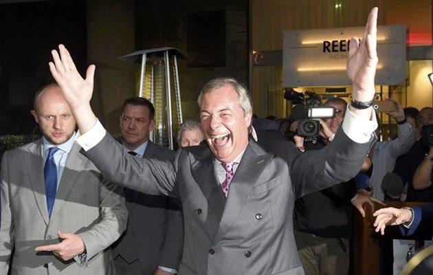 Βρετανία: Πρώτος ο Φάρατζ στα exit poll με 31,6% – Συντριβή της Μέι με 12,4%