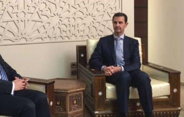 Έλληνας πολιτικός συναντήθηκε με τον Άσαντ στη Συρία – Τι του ζήτησε (φωτο)