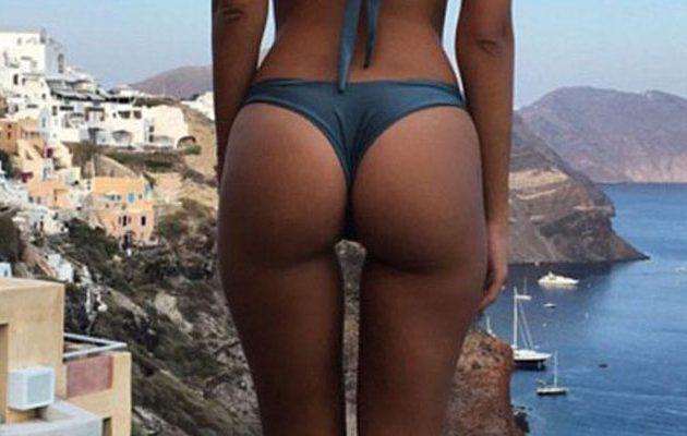 Τα πιο διάσημα οπίσθια του πλανήτη με θέα τη Σαντορίνη (φωτο)