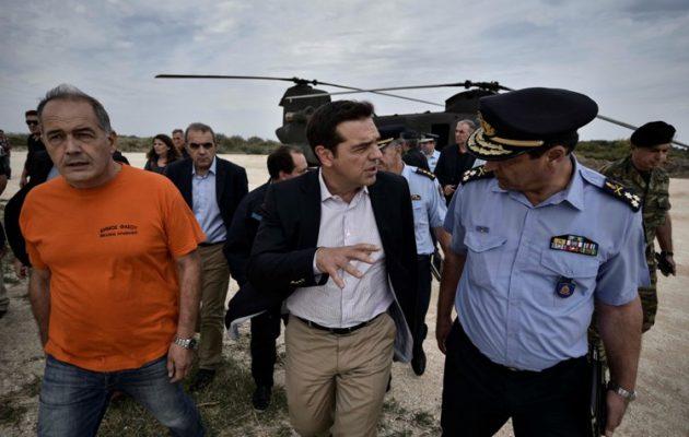 Άμεσα μέτρα για τους πυρόπληκτους της Θάσου ανακοίνωσε ο Τσίπρας