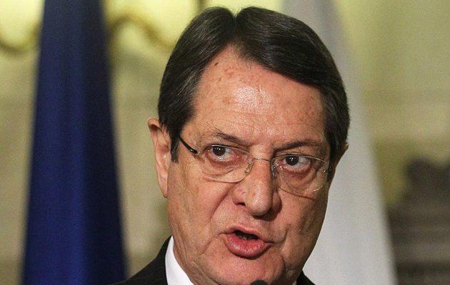 Αναστασιάδης: Απαράδεκτες οι δηλώσεις Ερντογάν για την Κύπρο