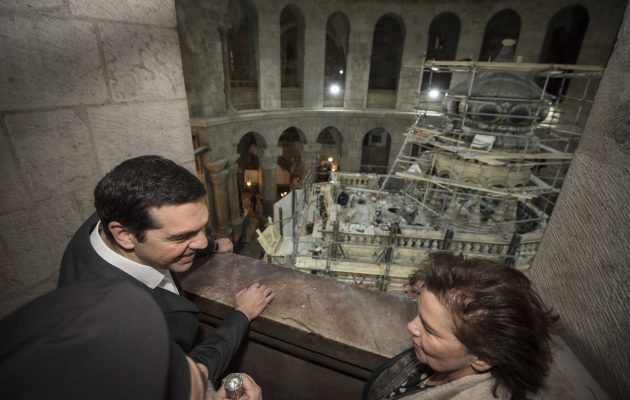 Παρουσία Τσίπρα – Βαρθολομαίου τα αποκαλυπτήρια του Παναγίου Τάφου στα Ιεροσόλυμα