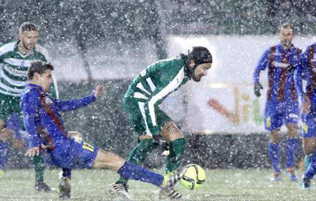 Σούπερ Λίγκα: Ο Παναθηναϊκός νίκησε,  στη χιονισμένη Λεωφόρο, την Κέρκυρα (1-0)