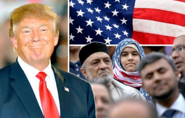 «Κλειστές» οι ΗΠΑ για τους μουσουλμάνους πρόσφυγες – Ο Τραμπ υπέγραψε το διάταγμα