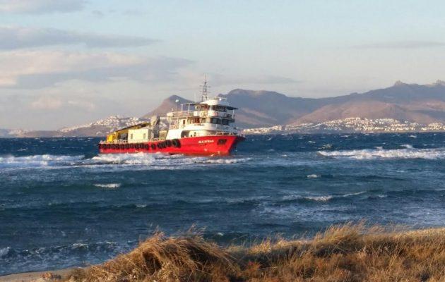 Αποκολλήθηκε το τουρκικό πλοίο ALCATRAS που είχε προσαράξει στην Κω