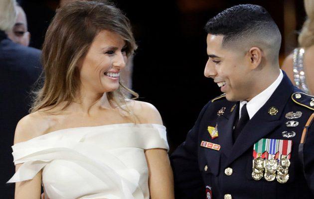 Πώς η Μελάνια Τραμπ μάγεψε έναν 29χρονο στρατιώτη (βίντεο)
