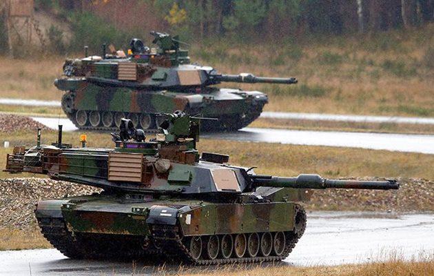 Οι Αμερικανοί έστειλαν τανκς και στρατιώτες στην Εσθονία