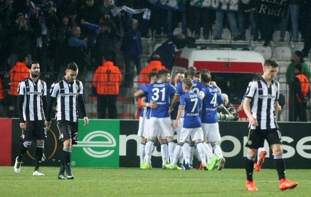 Europa League: Συντριβή ΠΑΟΚ μέσα στην Τούμπα 0-3 από Σάλκε