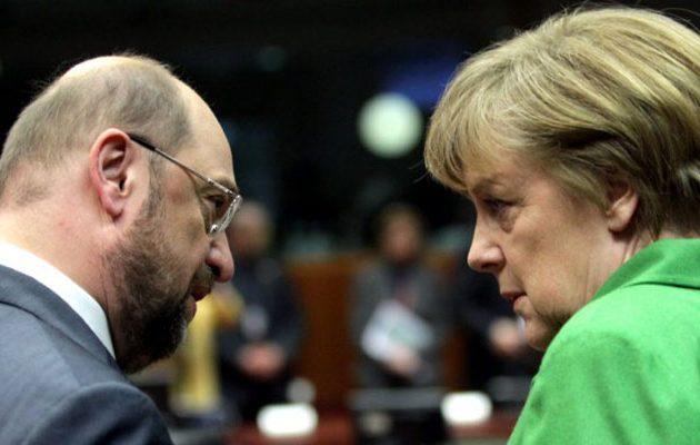 Πανικόβλητη η Μέρκελ επιτίθεται στον Σουλτς – Σε ποιο μεγάλο κρατίδιο χάνουν οι Χριστιανοδημοκράτες