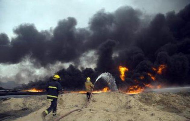 Εδώ και πέντε μήνες καίγονται οι πετρελαιοπηγές της Καγιάρα στο Ιράκ